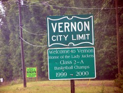 Welcome to Vernon, Florida.