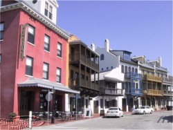 Downtown Rosemary Beach, Florida combines old-world charm with modern-day convenience.