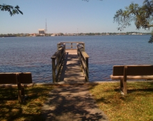 Meigs Park in Shalimar, Florida sits right on the Choctawhatchee Bay.